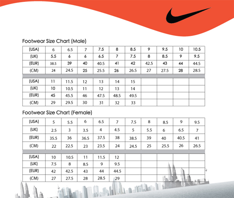 Nike Uk Women To Men Shoe Size International College Of Management