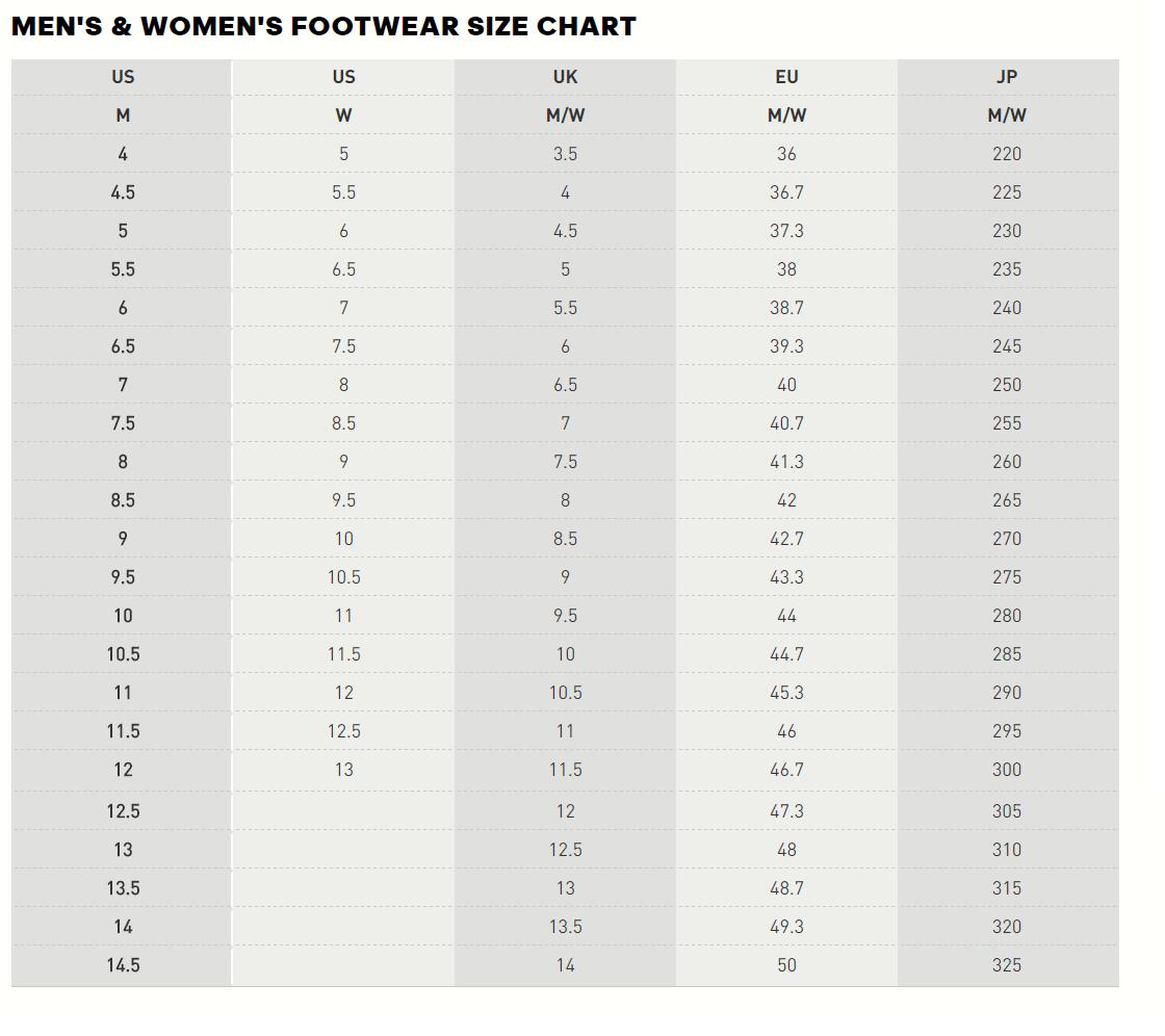 8040e06c55ff Adidas mens womens footwear size chart png 1120x996 Puma men size chart